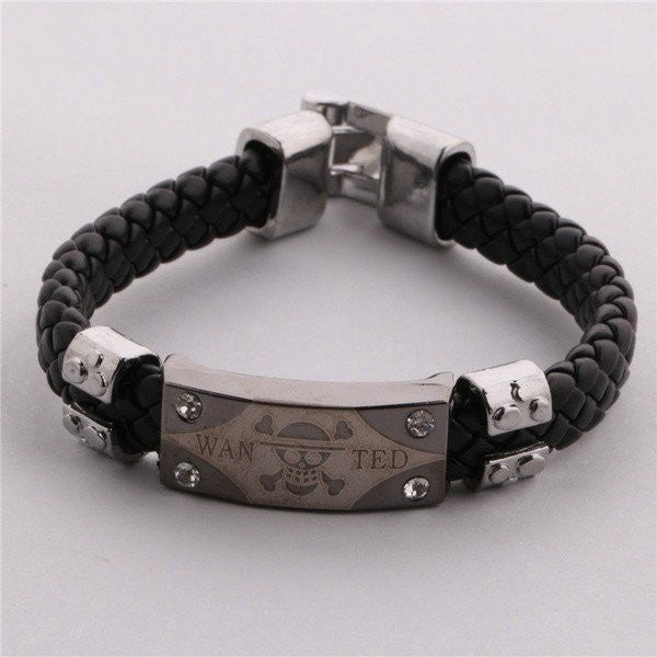 Personalized Death Skulls Mark Weave/Braided Men's Bracelet