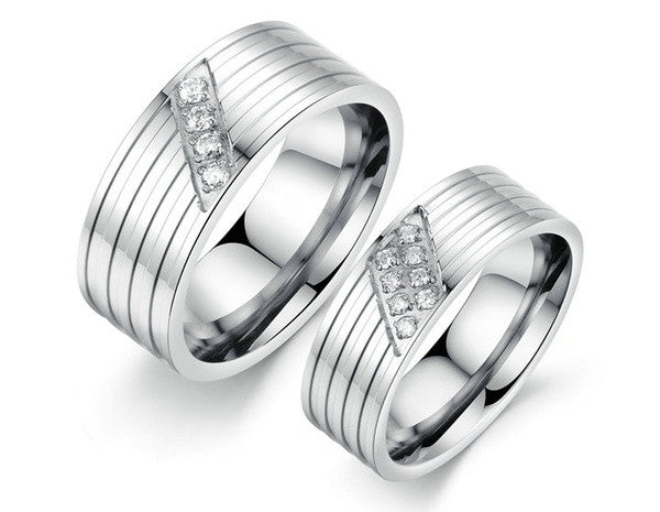 2pcs titanium rings sets couples ringstitanium ring wedding - Couples Wedding Rings