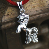 Lucky Horse Shape 925 Sterling Silver Women Pendant Necklace