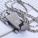 Stainless Steel Cross Bible Skateboard Pendant Couple Necklaces
