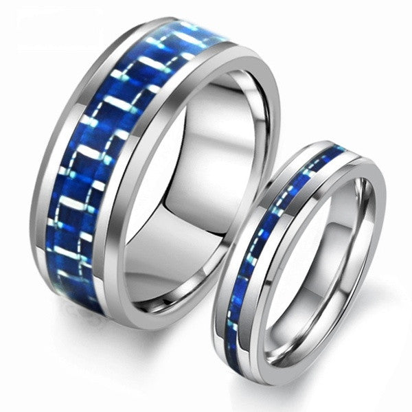 New Style Tungsten Steel Lovers Ringshigh Grade Carbon
