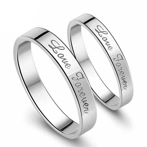 Personalized Love Forever Couple Rings