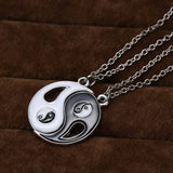 Traditional Chinese Taichi Pendant Couple Necklaces