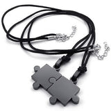 Puzzle Stainless Steel Pendant Couple Necklaces