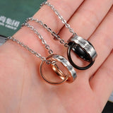Ring Band Circle Hook-ups Pendent Couple Necklaces