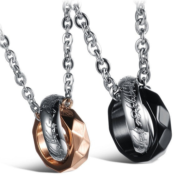 fashion-jewelry-2-pcs-mens-womens-stainless-steel-silver-rings-circle-promise-couple-pendant-lover-necklace-sets-5566e29a1fc0e919c8805f7c