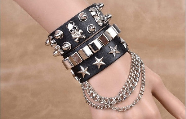 punk-style-gothic-women-men-bracelet-rock-steam-pu-leather-skull-spike-cuff-korea-style-punk-bracelet-fashion-accessories-561b5b2061d6cf237fa4937a