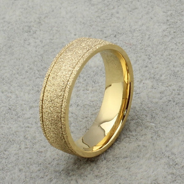 511a8068965ca New frosted couple lovers ring 18k gold engagement wedding rings ...
