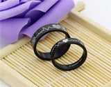 Black Love Token Couple Wedding Rings