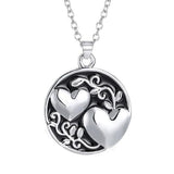 Sister Tree Two-sided Alloy Pendant Necklace