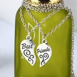 Hand-Stamped Broken Heart Vintage Couple Necklaces