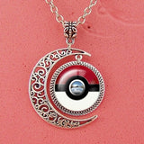 Pokemon Pokeball Moon necklace