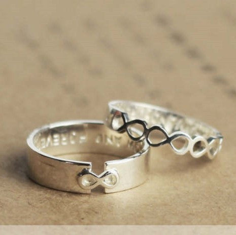 Infinity Love Couple Promise Rings