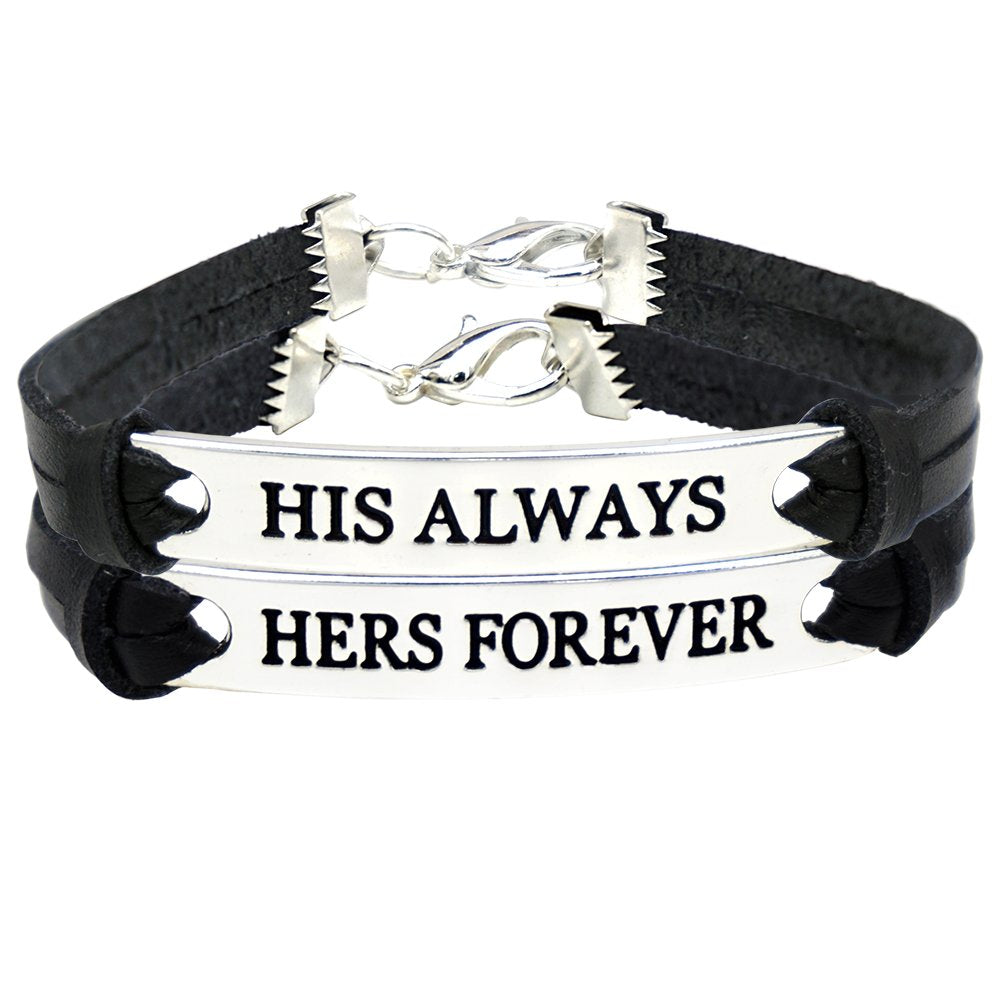 6709c3664f His And Her Bracelets Leather Couples Bracelet Set. $123.90 $49.95. Brand  Evermarker