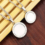Natural Shell Pendant Chain Round Couple Necklaces