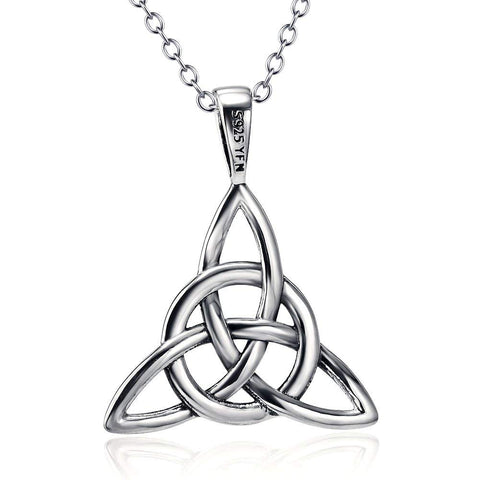 Irish Celtic Knot Triangle Vintage Pendant necklaces