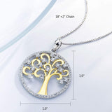Tree of Life 925 Sterling Silver Necklace for Her