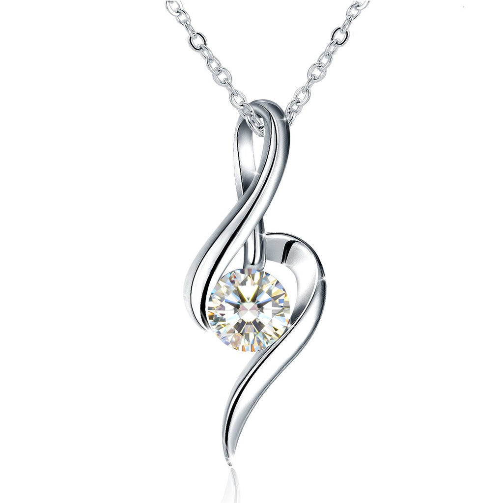 Sterling Silver Womens Twist Pendant Necklaces