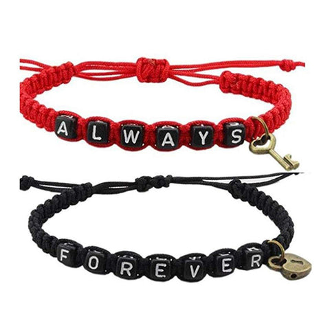 ALWAYS and FOREVER Couple Bracelets