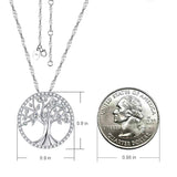 The Tree of Life Created Diamond Sterling Silver Necklace