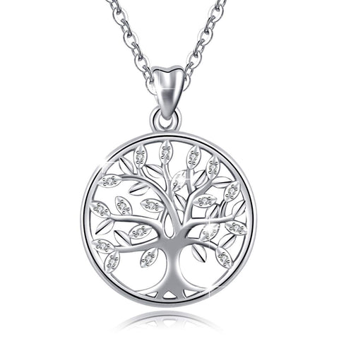 Tree of Life Forever Love 925 Sterling Silver Pendant Necklace