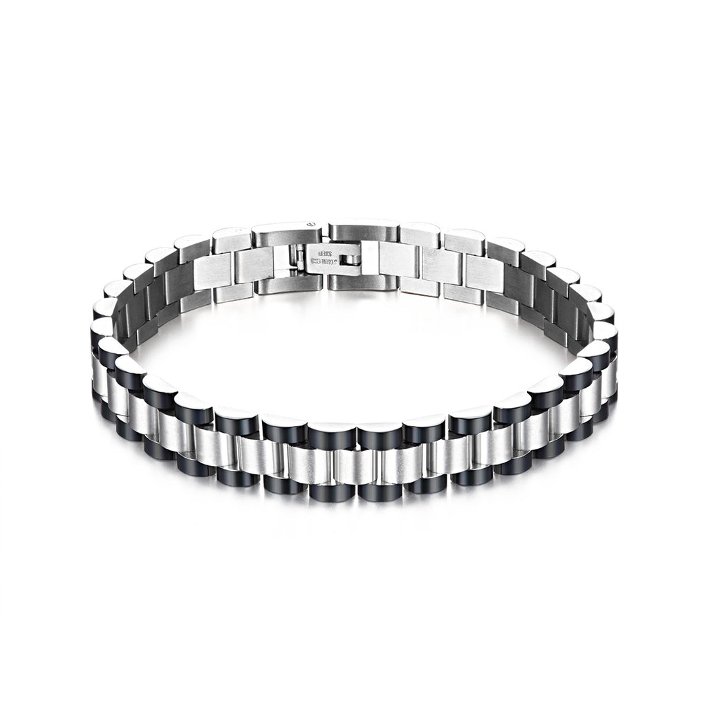 cbe84a93348a6 Masculine Stainless Steel Link Men's Chain Bracelet - EverMarker