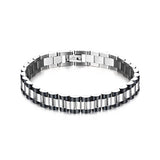 Masculine Stainless Steel Link Men's Chain Bracelet