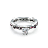 Heart Cut CZ Inlaid Women's Engagement Ring