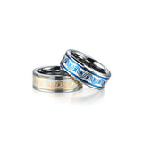 Tungsten Carbide Inlay Band Ring for Men