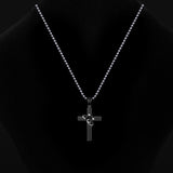 Black And Gold Plating Cross Lover's Necklace(Price For A Pair)