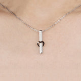 "Stainless Steel CZ Inlaid ""Forever Love"" Lovers Necklaces"