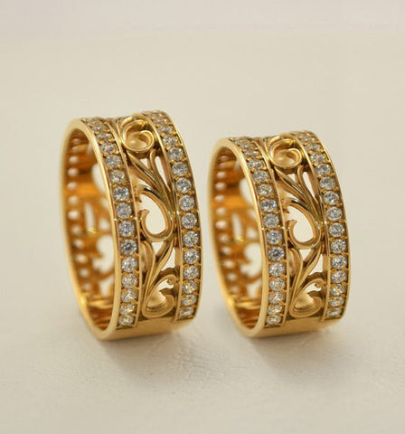 Vintage Style Hollow Out Promise Rings