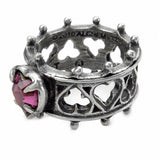 Heart Cut Crystal Inlaid Hollow Elizabethan Ring for Women