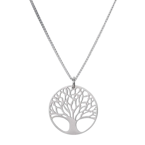 Tree Life Stainless Steel Unisex Pendant Necklace