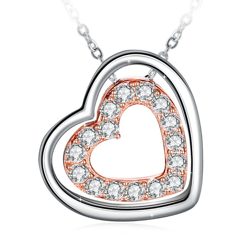 925 Sterling Silver with 3A Cubic Zirconia Necklaces