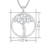 Family Tree of Life Pendant Necklace for Women