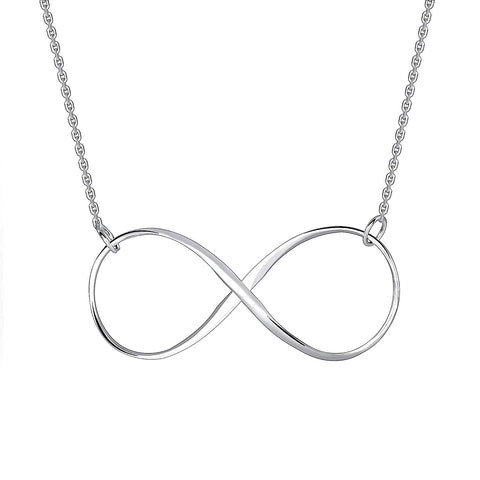 Style Beautiful 925 Sterling Silver Infinity Necklace