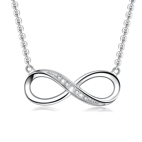 One Sight Infinity 925 Sterling Silver Pendant Necklace for Women