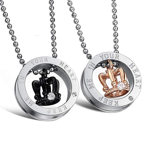Fate Love Stunning His & Hers Couples Pendant Love Necklace