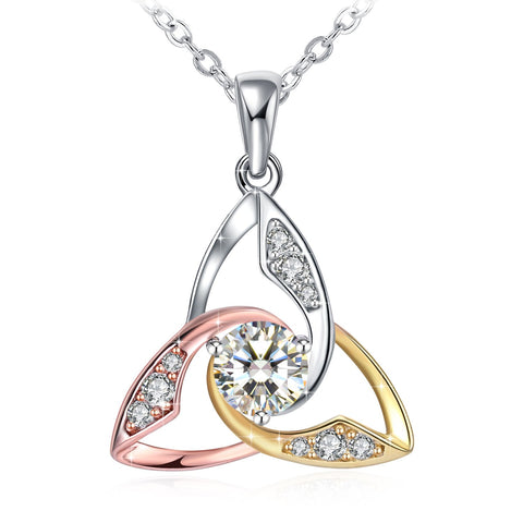 Trinity Knot Women's Sterling Silver Necklace