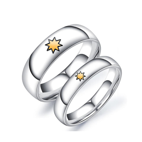 Thanksgiving Stainless Steel Couple Rings