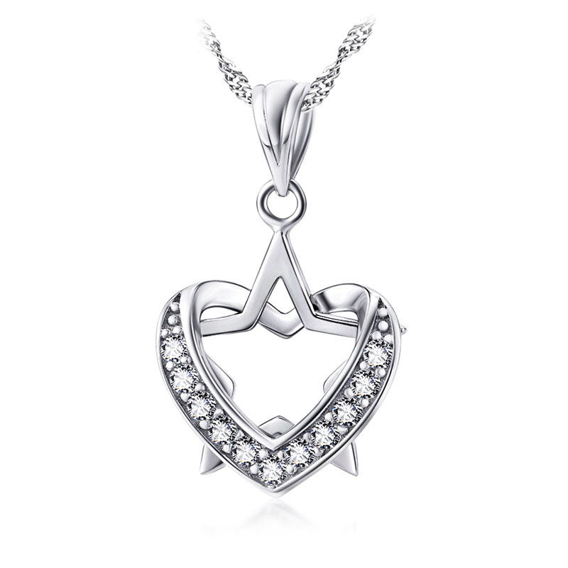 Star in Heart Pendant Necklace