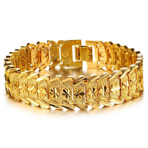 Men's Hip Hop 18K Gold Plated Bracelet