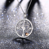 Tree of Life Sterling Silver Pendant Silver Chain Necklace for Women