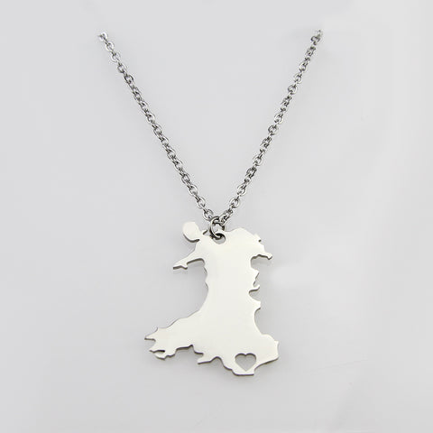 Wales Deep In Heart Pendant Necklace