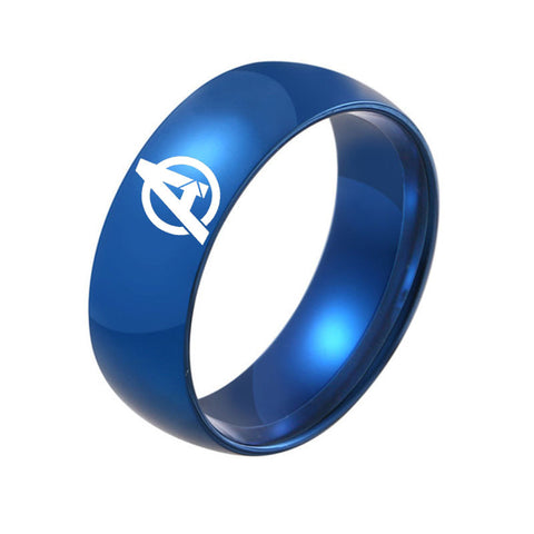 High Polished Titanium Steel Avengers Unisex Ring
