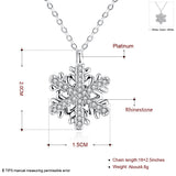 Zircon Snowflake Pendant Necklace