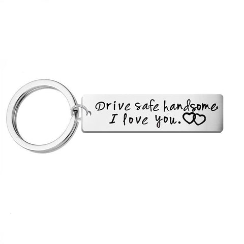 Drive Safe Stainless Steel Key Chain