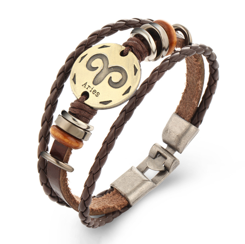 Aries Multi-layer Weave Leather Bracelets