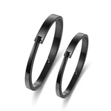 Personalized Concise Stainless Steel Couple Bracelets
